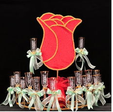 Rose Quinceanera Toasting Glasses Set, available in many colors