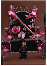 Roses Quinceanera Toasting  Set, available in many colors