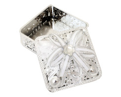 "3 1/4"" Silver Square Ribbon Bow Favor Box - Pack of 12 ( $ 1.99 each)"