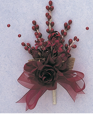 """7"""" Burgundy Quinceanera Corsage Silk Spray Flowers - Pack of 12,  available in many colors"""