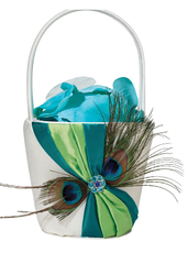 Quinceanera Peacock Flower Girl Basket