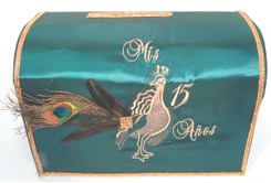 Peacock Quinceanera decorated Money Box, many colors