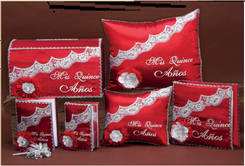 Red Quinceanera Set up to 7  items, available in many colors