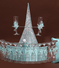 Paris Quinceanera Toasting Set, available in many colors