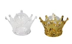 "3.25"" Plastic Crown Favor Box (12)"