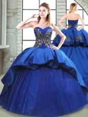 Blue Quinceanera Dress  QSPSSW0540MT