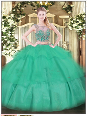 Turquoise Quinceanera Dress QSJQDDT1481002