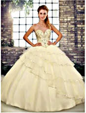 Champagne Quinceanera Dress