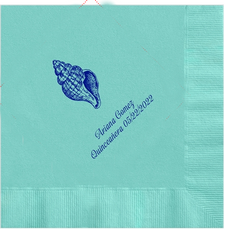 Sea Shell Quinceanera Napkins, 100