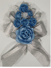 Royal Blue Quinceanera  Hand Corsage, available in many colors