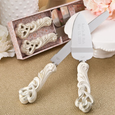 Engraved Quinceanera Cake Server Set