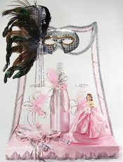 Masquerade Quinceanera Small Toasting Glass Set ,  Available in Many Colors