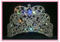"""3.5""""  Butterfly Quinceanera Tiara"""