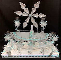 Winter Wonderland Quinceanera Toasting Set, available any color