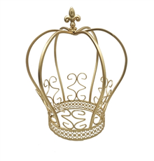 "12"" Large Metal Ornate Crown"