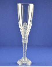 "8"" Clear Plastic Champagne Flutes, Set of 120"