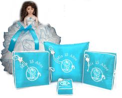 Western Quinceanera Set 6 Items, many colors available