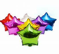 19'' Metallic Star Balloons, Set of 20