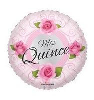 Mis Quince Con Rosas Balloon