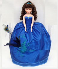 Peacock design Quinceanera Doll