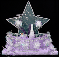 Star Quinceanera Toasting Set, any color