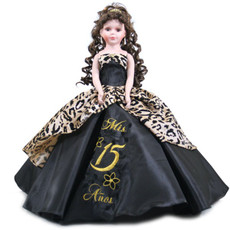 Animal Print design Quinceanera Doll, 21 inches