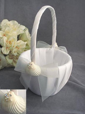 Shell Flowergirl Girl Basket