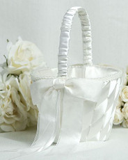 Ribbon Flower Girl Basket