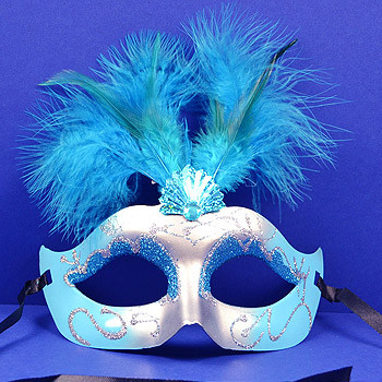 Mardi Gras Feather Masks - Quinceanera Style