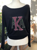 AKA Stacked Letters with 1908 on Sleeve