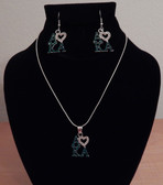 I Love AKA Necklace and Earrings Set