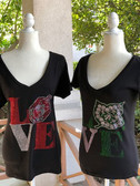 Love Rhinestone Shirt