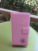 AKA Pink Leather Wallet Phone Case - Iphone 6+
