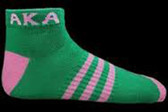 Alpha Kappa Alpha Pink and Green Socks