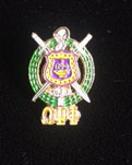 Omega Psi Phi - Shield Lapel Pin With Letters