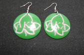 Alpha Kappa Alpha Wood Ivy Earrings