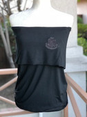 Alpha Kappa Alpha Black Sleeveless Shirt With Crest