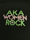 AKA Women Rock Lapel Pin