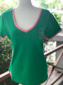 Alpha Kappa Alpha Green Ivy Short Sleeve Shirt