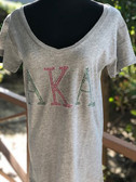 Alpha Kappa Alpha Rhinestone T-Shirt