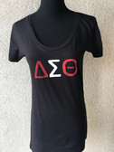 Delta Sigma Theta 3-Letter Glitter T-Shirt