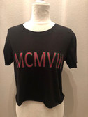 MCMVIII - Black Short Sleeve Crop Top