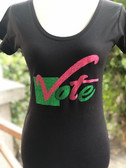 Pink and Green or Red and White Vote Shirt