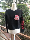 Delta Sigma Theta Cropped Shield Shirt