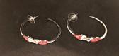 Delta Sigma Theta Half Loop Earrings