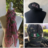 Alpha Kappa Alpha Scarf and Hat Bundle