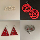 Delta Sigma Theta Earring and Lapel Pin Bundle