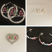 Alpha Kappa Alpha Earring and Lapel Pin Bundle