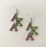 Alpha Kappa Alpha Rhinestone Hanging Earrings