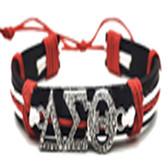Delta Sigma Theta Red and White  Wristlet